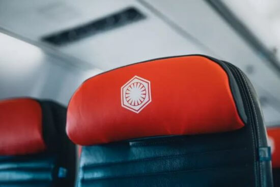 Star Wars themed jet red seat