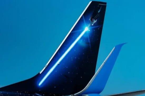 Star Wars themed jet tail