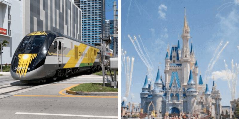 Walt Disney World Brightline train
