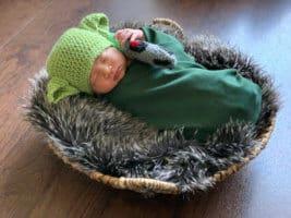 Actual Baby as Baby Yoda