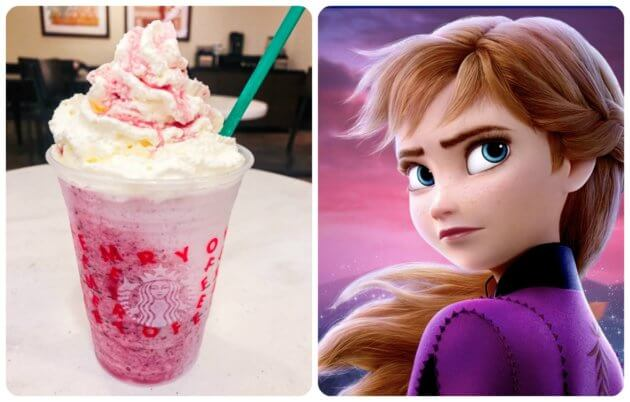 Anna Frozen Inspired Frappuccino Starbucks Secret Menu