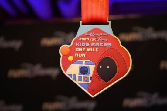 runDisney Star Wars Kids one mile medal
