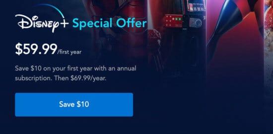 Disney Plus Special offer