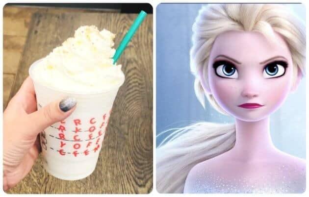 Elsa inspired secret starbucks drink
