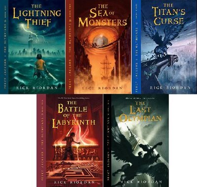 """All Five Books in the """"Percy Jackson and the Olympians"""" Series"""