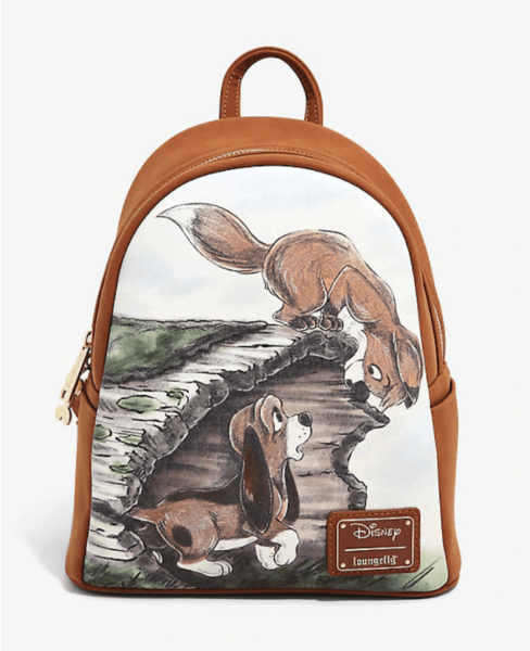 Fox and the Hound Copper Tod Loungefly Disney Mini Backpack