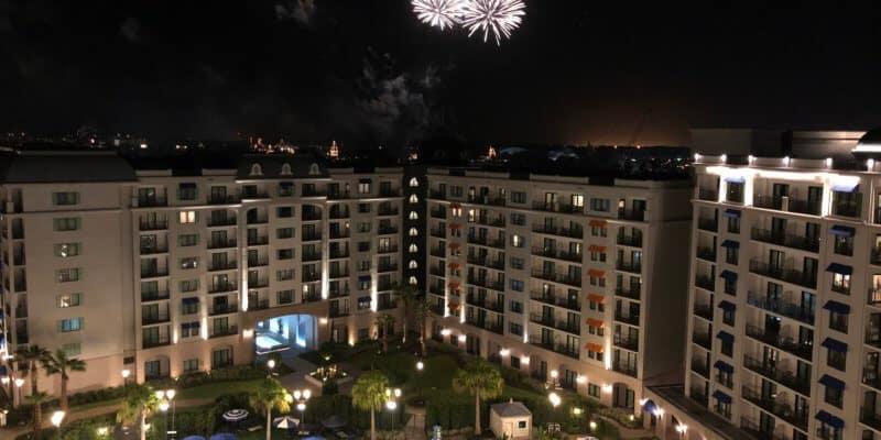 Epcot fireworks over Riviera Resort