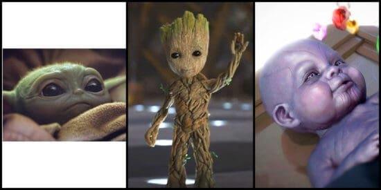 Baby Yoda Groot Thanos