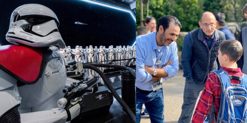 Rise of the Resistance Imagineer meet with guest