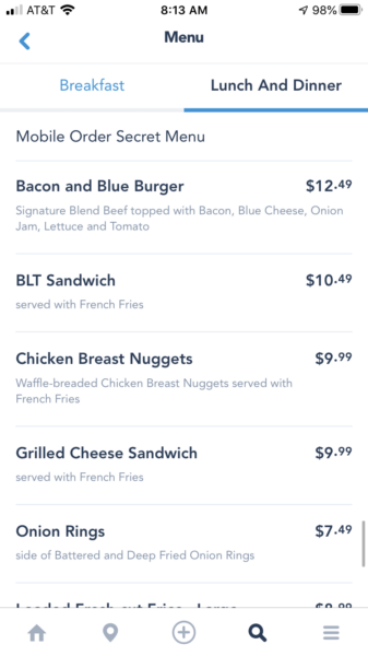 D-Luxe Burger Secret Menu
