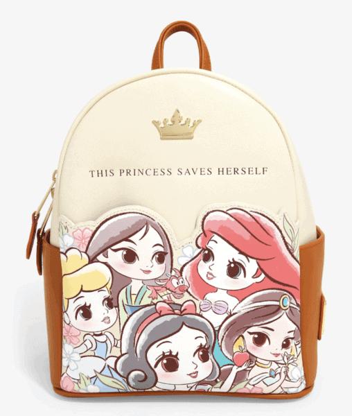 Chibi Princess Saves Herself Loungefly Disney Mini Backpack