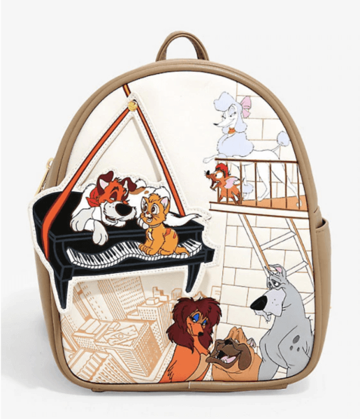Oliver and Company with swinging piano Loungefly Disney Mini Backpack