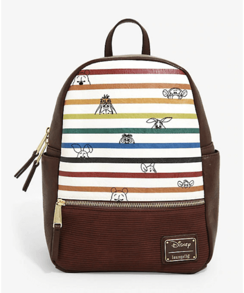 Pooh and Friends Rainbow stripe Loungefly Disney Mini Backpack