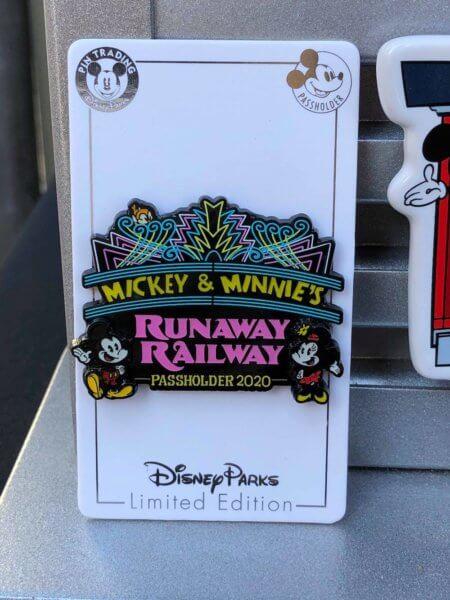 Mickey and Minnie's Runaway Railway Merchandise Marquee Trading Pin
