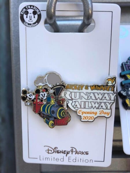 Mickey and Minnie's Runaway Railway Merchandise opening day pin for trading