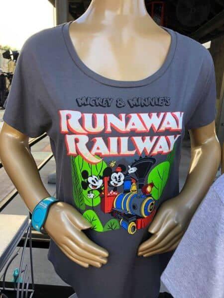 Women's Mickey and Minnie's Runaway Railway Merchandise Tshirt scoop neck