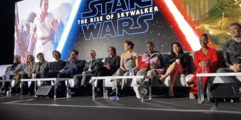 The Star Wars Cast Panel right after the lights went out.