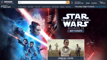 Secret Star Wars Amazon landing page