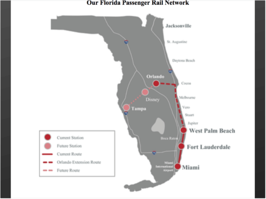 Planned Brightline Route Map
