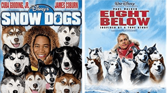 Snow Dogs (Left), Eight Below (Right)