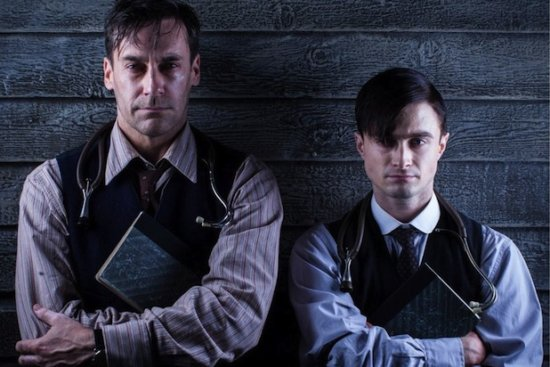 """Jon Hamm(left), Daniel Radcliffe(right), """"A Young Doctor's Notebook"""""""