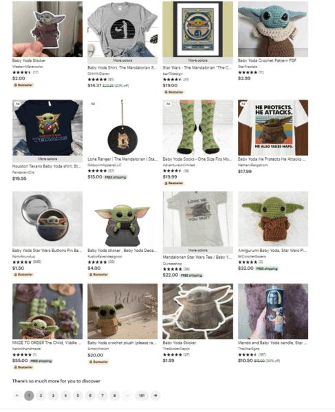unauthorized baby yoda merchandise