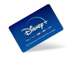 disney plus subscription gift card