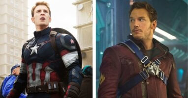 Star Lord and Captain America