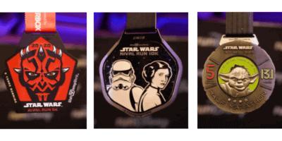 Star Wars 2020 runDisney medals