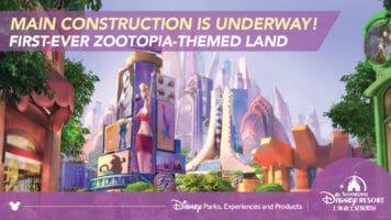 Zootopia Land announcement