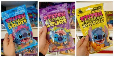 Stitch Extreme Sours Candy Varieties collage