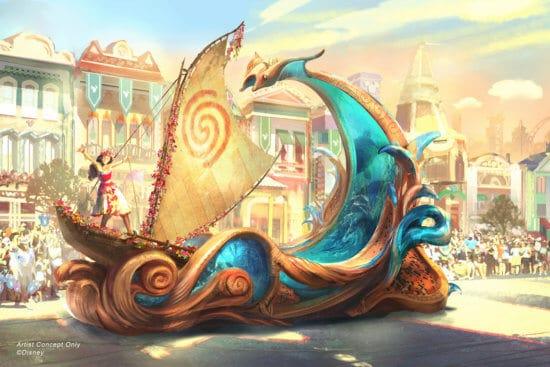 moana magic happens parade