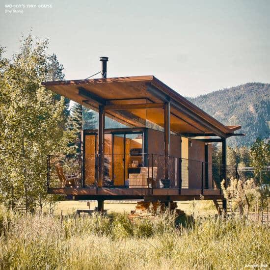 woody tiny house