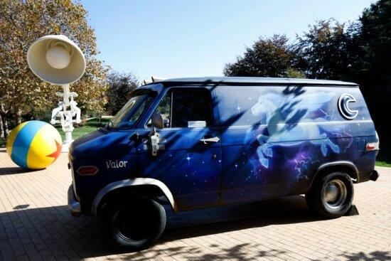 Onward van at Pixar Studios