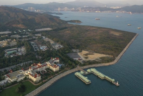 The 60-Hectare land reserved for future Hong Kong Disneyland Expansion, now on loan to the Hong Kong Government for Quarantine Facilities.