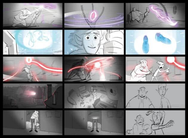 Conjuring Dad Storyboards