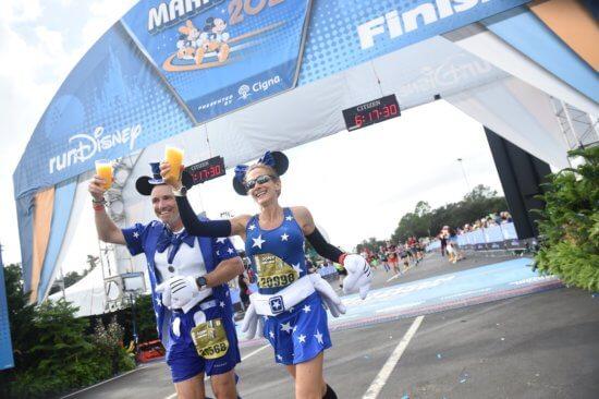 WDW Marathon finish with Margaritas