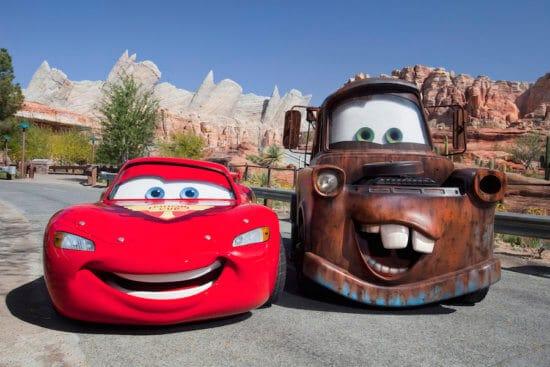 LIghtning Mc Queen and Mater Disney meet and greet