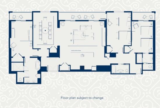 Disney's Riviera Resort 3-Bedroom Villa floor plan