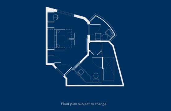 Disney's Riviera Resort studio floor plan