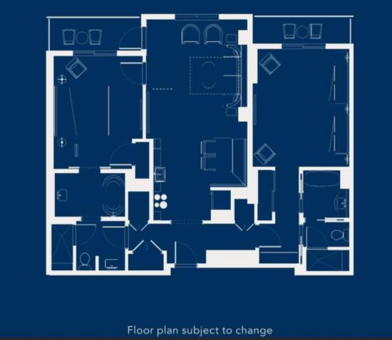 Disney's Riviera Resort 2 bedroom Villa floor plan