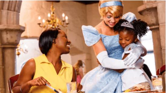 """Cinderella Greets Family at """"Cinderella's Royal Table"""""""