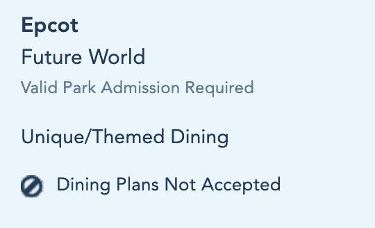 Space 220 Dining Plan
