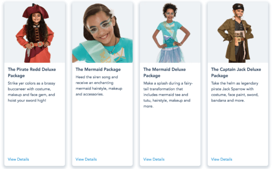 Mermaid and Pirate Packages