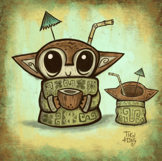 Baby Yoda Tiki Mug
