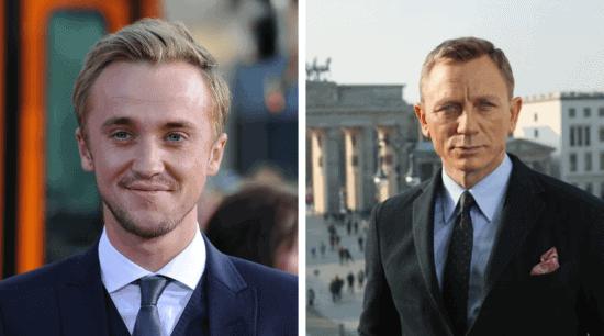 Tom Felton (left); Daniel Craig (right)