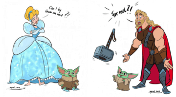 baby yoda annoying Disney Characters