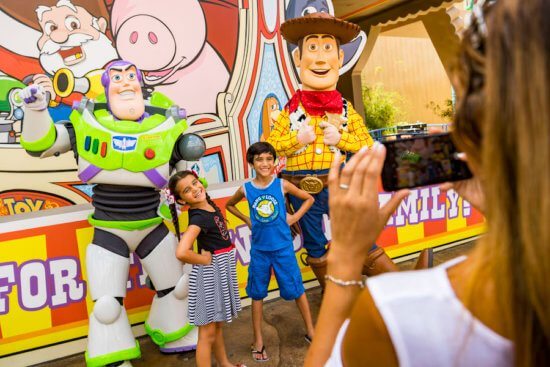 Woody and Buzz character meet and greet