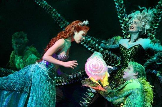 Ariel (Sierra Boggess) giving her voice up to Ursula (Sherie Rene Scott) (Spoiler alert?)