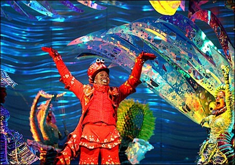 "Titus Burgess as Sebastian the Crab during his big ""Under the Sea"" number."